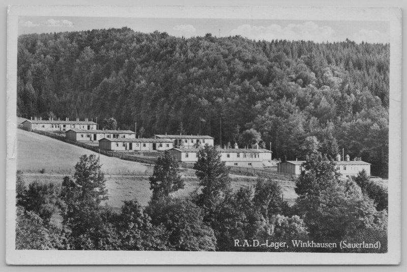 Winkhausen (Schmallenberg) DE RPPC~R.A.D. Nazi Camp~Reichsarbeitsdienst