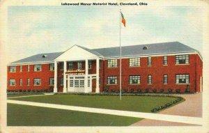 Lakewood Manor Motorist Hotel Cleveland Ohio Postcard