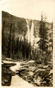 Canada - British Columbia. Yoho Valley, Twin Falls    RPPC