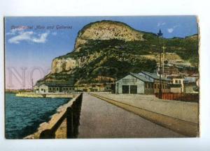 144662 GIBRALTAR Commercial Mole & Galleries Vintage postcard