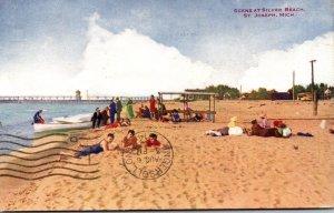 Michigan St Joseph Scene At Silver Beach 1914