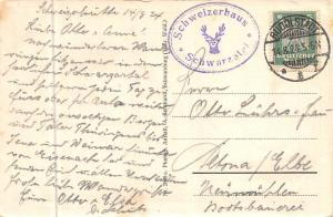 Schwarzburg Thuer. Wald Blick vom Trippstein Gesamtansicht 1924