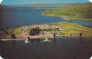 Aerial view,  Seney Point Fishing Resort,  Lake DeSmet,  Buffalo,  Wyoming,  ...
