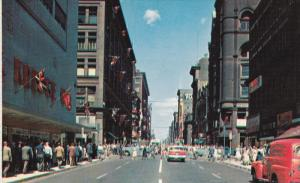 Yonge St. Looking North, Classic Cars, TORONTO, Ontario, Canada, 40-60's