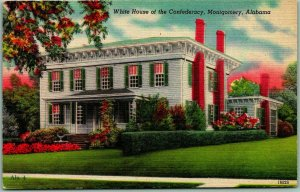 1940s Montgomery, Alabama Postcard White House of the Confederacy Linen Unused