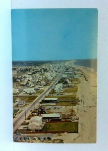 Bethany Beach Delaware Aerial View Looking North Postcard