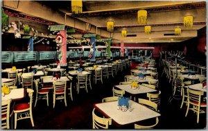 New Orleans, Louisiana Postcard HOLSUM CAFETERIA Restaurant View c1950s Chrome