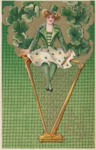 Winsch ; Samuel Schmucker: ST PATRICKS DAY ; Girl sitting on Harp