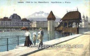 Kapellbrucke und Wasserturm Luzern und Pilatus Swizerland Unused