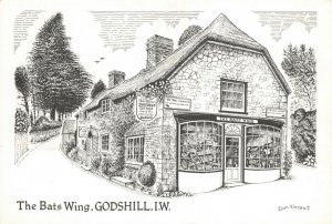 Art Sketch Postcard, The Bats Wing, Godshill, Isle of Wight by Don Vincent AS1