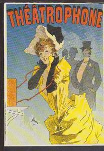 Theatrophone Reproduction Postcard BIN