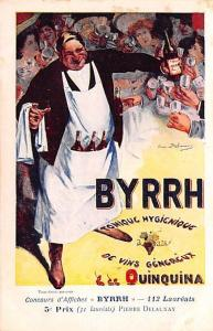 Advertising Byrrh Postcard Tonique Hygienique A Base De Vins Genereux de Quin...