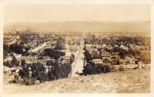 Pocatello Idaho~Looking Down @ Center Street~View of City~1931 RPPC