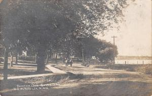 Albert Lea MN Horse & Buggy on Dirt Rd by Fountain Lake~Homes RPPC c1911