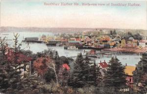 Maine Boothbay Harbor, Birds-eye view of Boothbay Harbor