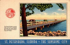 Florida St Petersburg The Gandy Bridge 1952