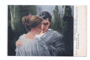 Quo Vadis Sienkiewicz painting Vinicius and Lygia Poland 1913 Collotype Postcard