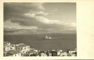 greece, NAUPLIA NAFPLIO, Bourdzi Castle, Tourist Hotel (1937) Wagner RPPC