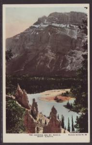 The Hoodoos,Mt Rundle,Alberta,Canada Postcard