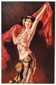 140498 SCHMUTZLER Salome DANCE Nude Female Art RICHARD Ed IMP RUSSIA pc c.1910