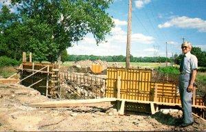 Pennsylvania Harrisburg Ben Wilson Inspecting Bridge Work On County Line Road