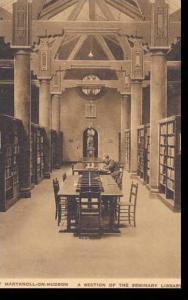 New York Maryknoll On Hudson Maryknoll Seminary Section Of The Library Albertype
