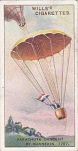 Cigarette Card Wills Famous Inventions 1915 No 34 Parachute Descent by Garner...