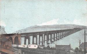 Scotland, UK Old Vintage Antique Post Card Tay Bridge Dundee Unused