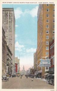 Texas Fort Worth Main Street Looking North From Ninth Street Curteich