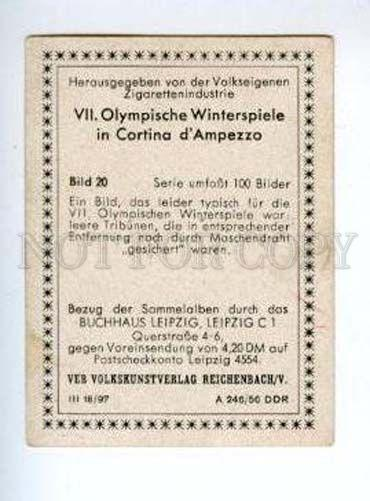 167007 Olympic Winter Games CORTINA d'Ampezzo CIGARETTE card