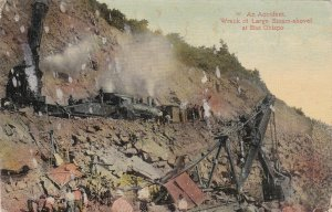 Panama Canal Wreck Of Large Steam Shovel At Bas Obispo 1912 sk4492