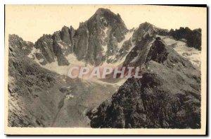 Old Postcard Massif du Pelvoux the Barre des Ecrins