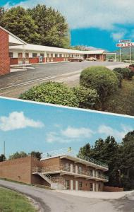 CARYVILLE, Tennessee, 40-60s; 2 Views, Tennessee Motel, Classic Cars