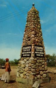 ND - Rugby. Geographical Center of North America Monument