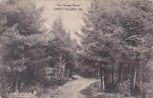 Maine Orrs Island The Grassy Road Albertype