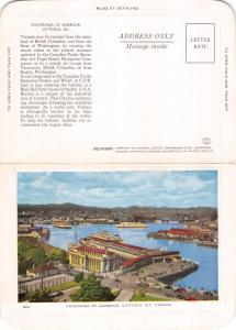 VICTORIA BRITISH COLUMBIA CANADA FOLKARD POSTCARD 1940s UNIQUE LETTER WRITING