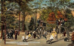 LP67 Detroit  Michigan  Postcard Belle Isle Park Children's Play Ground