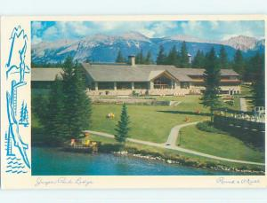 Unused Pre-1980 JASPER PARK LODGE MOTEL Jasper Alberta AB o0351