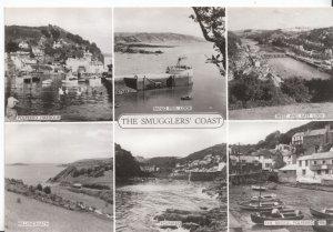 Cornwall Postcard - Views of The Smugglers' Coast  - Real Photograph    E185