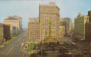 Ohio Cleveland Public Square Looking East 1960