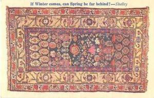 Linen of Antique Kuba Rug Depicting the Classical Story of D