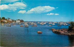 Marblehead Massachusetts~Harbor View~1970 Postcard