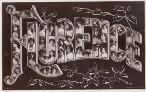 A Girls Named Called FLORENCE Old Theatre Star Actress Images Name RPC Postcard