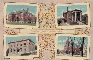 ASHTABULA , Ohio , 00-10s ; 4 view postcard