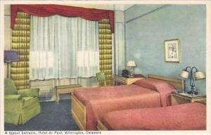 Delaware Wilmington A Typical Bedroom Hotel Du Pont