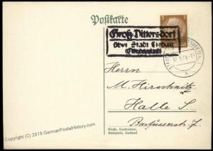 3rd Reich Germany Gross Dittersdorf Sudetenland Annexation Provisional Cov 67069