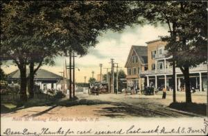 Salem Depot Main St. c1905 Postcard