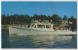 Excursion Boat Argo Tourist Ship Boothbay Harbor Maine ME 70's Postcard