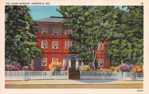 The Chase Mansion, Annapolis, Maryland, Early Postcard, unused