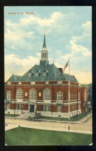 Concord, New Hampshire/NH Postcard, City Hall, 1911!